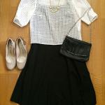【コーデ】 きれいめ JEANASIS(ジーナシス) シアーチェックシャツプルオーバーSS