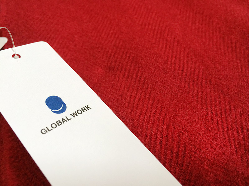 GLOBAL WORK(グローバルワーク) アソートBIGストール(レッド)