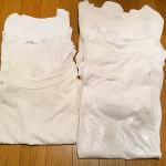 受けの断捨離10(白のTシャツなど)
