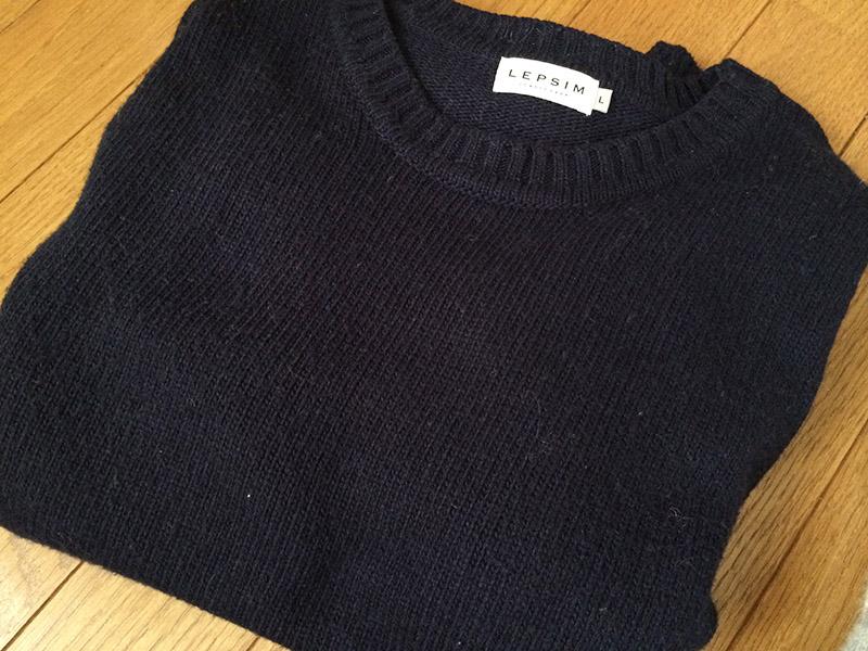 受けの断捨離 セーター