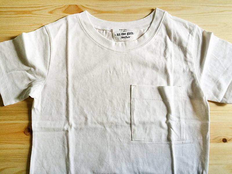 【レビュー】Heather(ヘザー) ムジポケTシャツ半袖