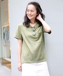 Heather(ヘザー) ムジポケTシャツ半袖