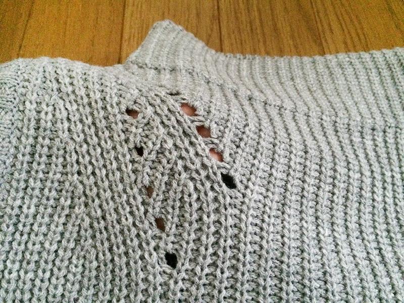 編み方にちょっと変化があります