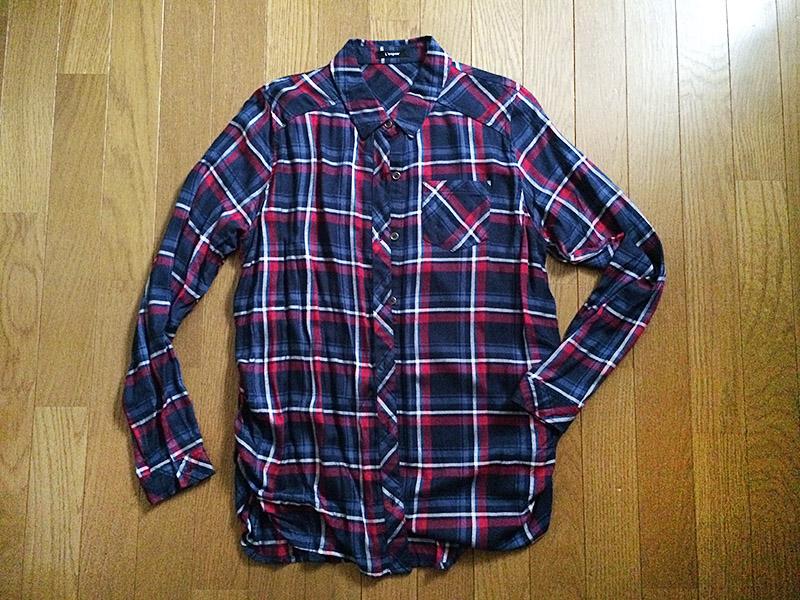 【レビュー・秋支度】しまむら ゆるシルエット・チェックタックシャツ
