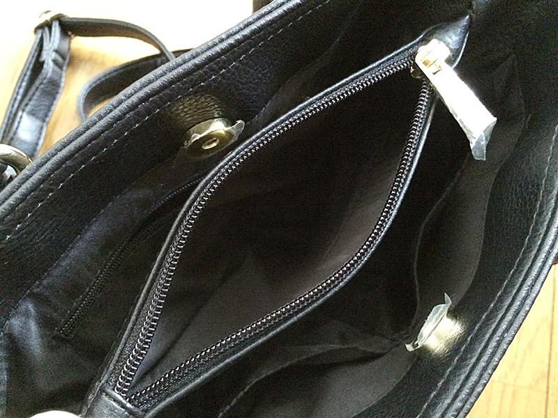 しまむら2WAYハンドバッグ:収納部分