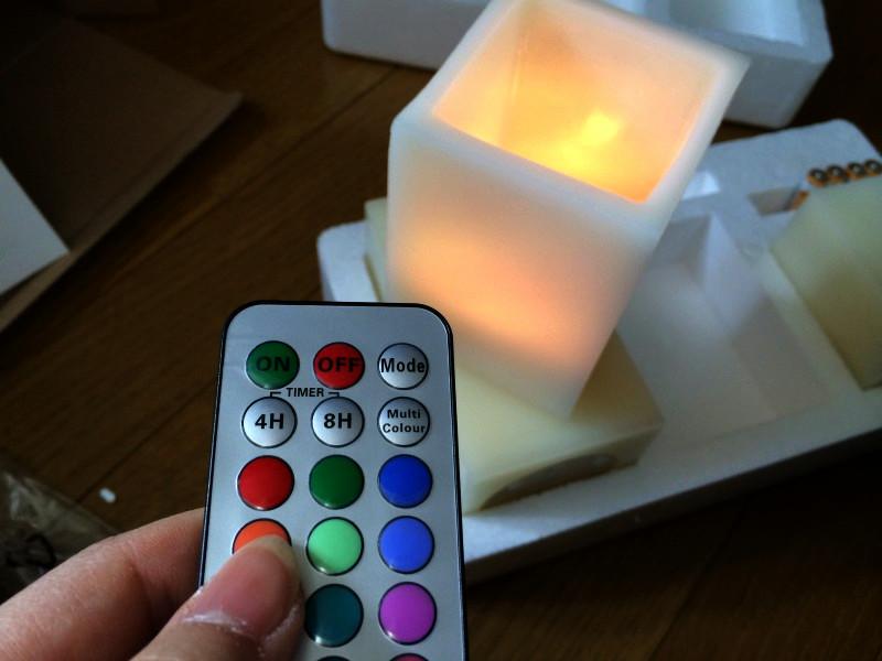 受けの断捨離45(角型12色LEDキャンドル)