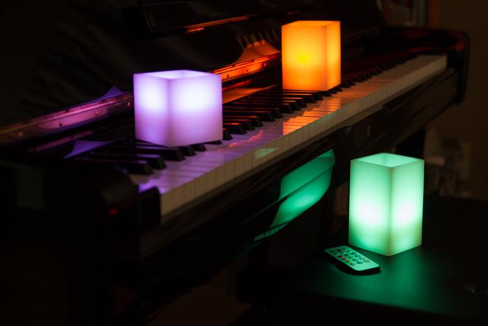 角型12色LEDキャンドル