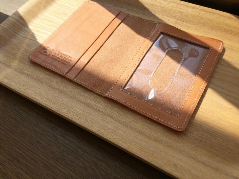 IL BISONTE (イル ビゾンテ)革小物 日光浴・日焼け・色+経年変化の観察記録 20150912